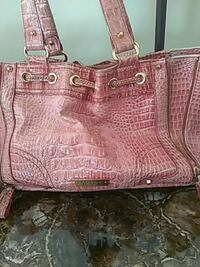 women's pink leather tote bag Middle River, 21220
