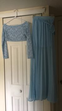 New Crop top and Maxi slit skirt, Size Small
