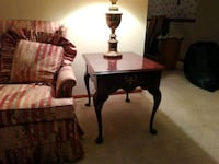 two brown wooden side tables 153 mi
