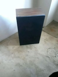 black and gray subwoofer speaker Brooklyn, 11212