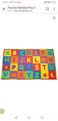 A to Z Foam Letters (Set of two value at $78.00 Mississauga, L4Y 3T2