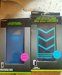 two blue smartphone case packs