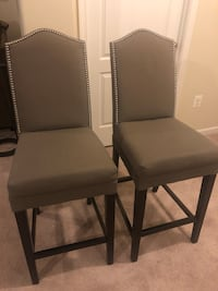 Two gray counter height stools. Excellent condition   Glenn Dale, 20706