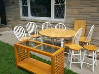Kitchen table,chairs,stools,buffet table Muncie, 47304
