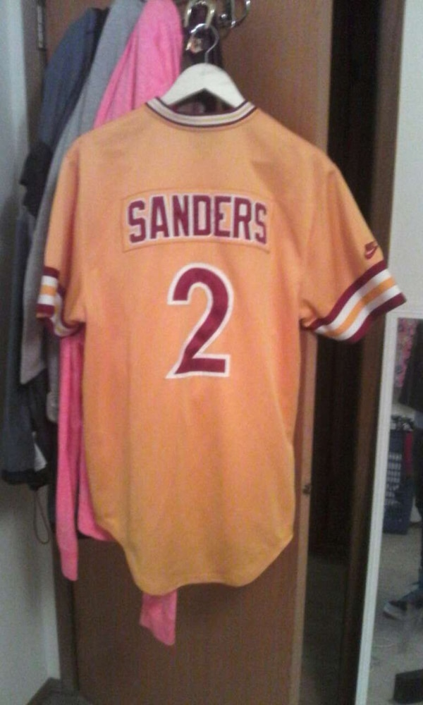 newest collection 6851d e626b Deion sanders college throwback baseball jersey