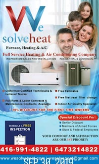 Heating system installation Markham