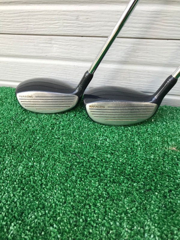 Matching Pair of MasterGrip Black Steel 3 and 5 Woods, Regular Flex 38fa4c84-1f3a-4bb0-a07c-d8034b84a7d3