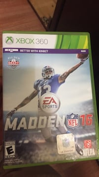 Madden NFL 16 Xbox One game case Palmdale, 93550