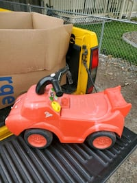 Child Red Ridable Car