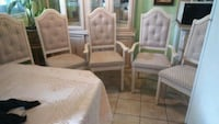 two white wooden framed gray padded armchairs Laval, H7M 5W8