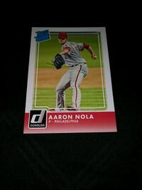 2016 DONRUSS AARON NOLA ROOKIE BASEBALL CARD Upper Darby, 19026