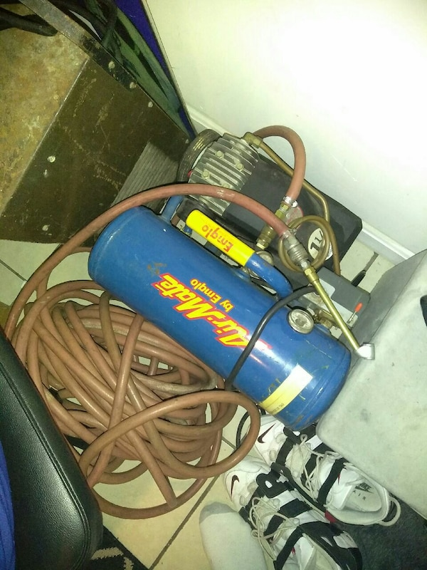 blue and black Air-Mate air compressor