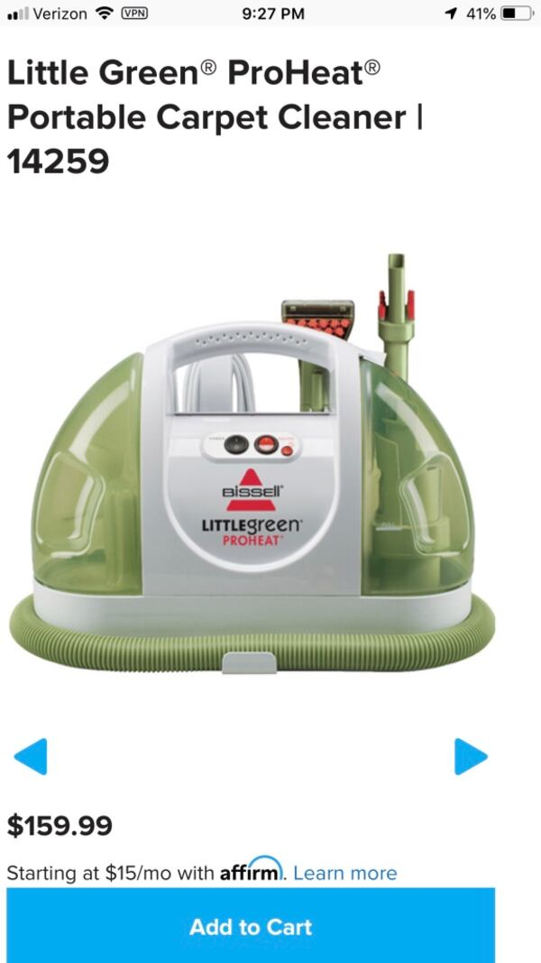 Little Green Carpet Cleaner (May be broken) 087fa080-5be8-43bc-956f-8b5aeb7d7962