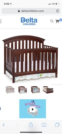 4 in 1 crib with toddler bed rail Apple Valley, 55124