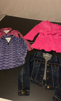 Gap Jean Jacket, Justice Pullovers and Soft Robe...Size 8 Purcellville, 20132