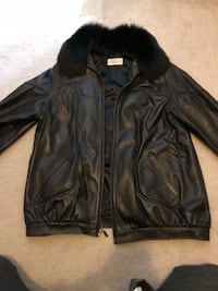 Vericci leather jacket with fur hood Newmarket, L3Y 5M4