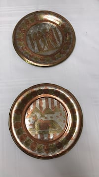 """2  brass and  silver plates   7 """" round College Station, 77845"""