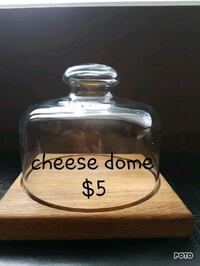 clear glass cheese dome