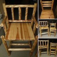 Rush Creek Custom Crafted Solid  Pine Chairs YORKVILLE