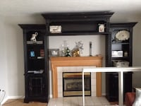 Entertainment center, distressed ,black3 peace Franklin, 45005