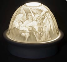 Jesus With Mother Mary & Angels LED BASE DOME LIGHT