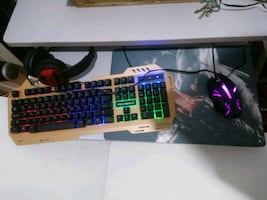 Gaming set klavye mause fare kulaklık mause pad pc bilgisayar laptop