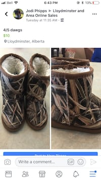 two pairs of brown and black leather boots Lloydminster (Part), T9V 1P1