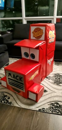 Mack truck theme from cars decor table