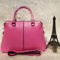 Borsa a 2 vie in pelle rosa Louis Vuitton