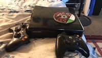 Xbox 360 S with three games. (Gears of war3, mortal kombat, and injustice.) Two controllers. And all cords. Plus online membership. 2337 mi
