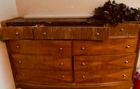 Gorgeous Oak and marble vintage dresser Langley, V2Y 3E6