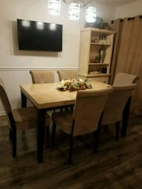 Dining set.  Table and 6 chairs