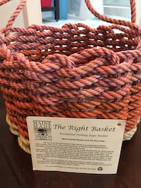 The right basket - reclaimed fishing rope basket from Maine  46 km