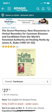 The Green Pharmacy: New Discoveries in Herbal Remedies Bethesda, 20817