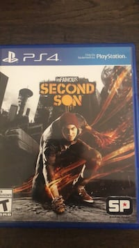PS4 inFamous Second Son game case Guelph, N1E 0L7