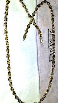 *GOLD ROPE NECKLACE* 14k--$55