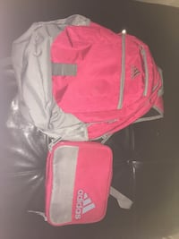 Adidas red backpack and matching lunch bag Mississauga, L4Z