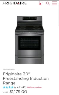 New frigidaire induction electric range manufactur