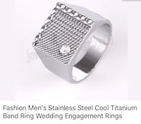 Stainless steel ring . Size10 1/2 Lexington, 40517