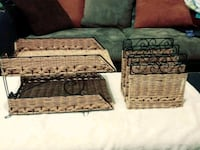Wicker Set with letter holder and decor Royal, 71968