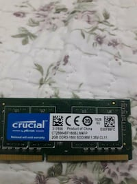 Ddr3 1600mhz laptop 2gb ram