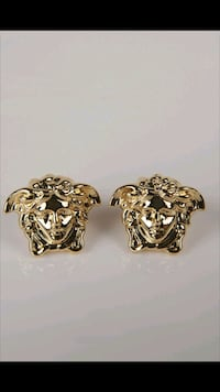 Gold Plated Versace Earrings Toronto, M5J