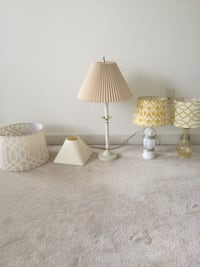 two white ceramic base table lamps Centreville, 20120