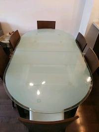 Tempered Glass Extendable Dining Table