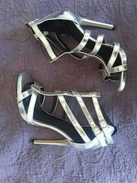 SHINY Silver Kendall & Kylie Madden Heels Oakland, 94607