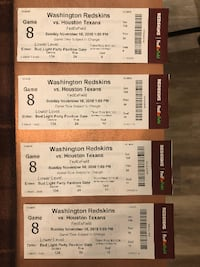 4 Washington Redskins Tickets LANHAM