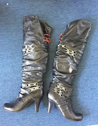 Over the knee leather boots and booties Greenwood Lake, 10950