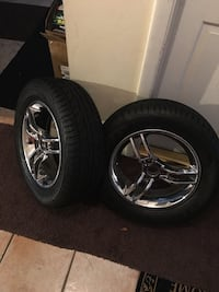 Two chrome 3-spoke CanAm Spyder 2008-2012 RS/Gs with very good tires  Orlando, 32808