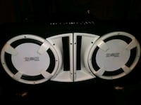 white and black Samsung wireless headphones Detroit, 48211