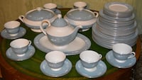 Blue and white ceramic dinnerware set Stoney Creek, L8G 4A9